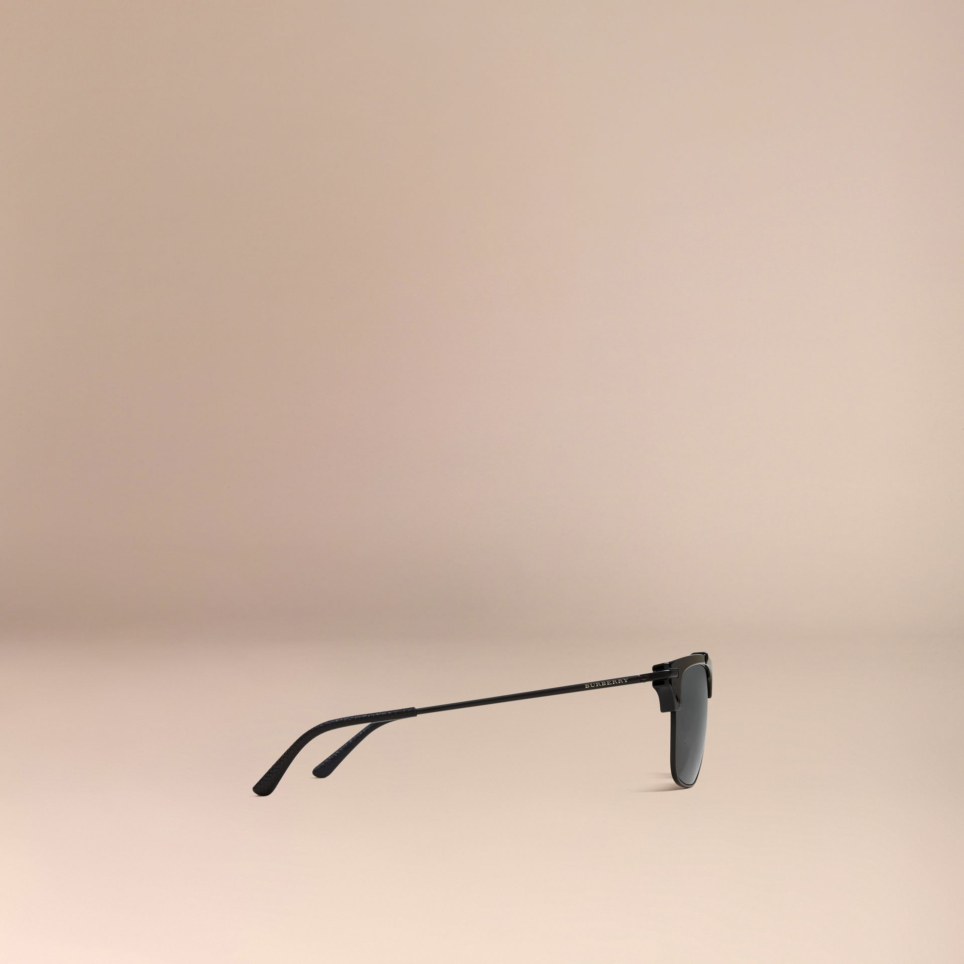 Square Frame Sunglasses in Black - gallery image 4