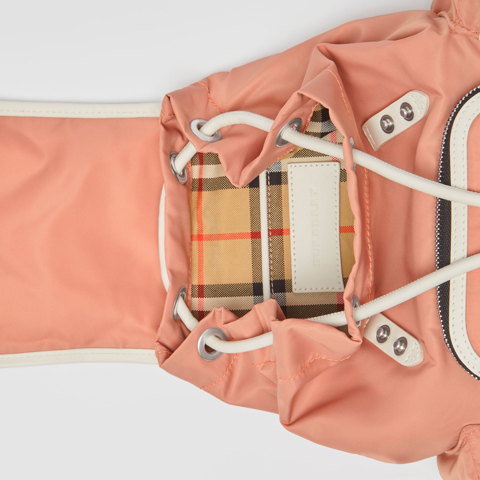 The Small Crossbody Rucksack in Nylon in Powder Pink - Women | Burberry - gallery image 3