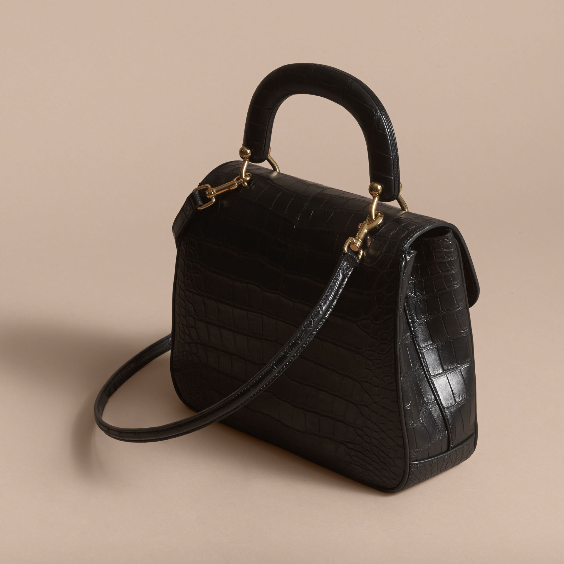 The Medium DK88 Top Handle Bag in Alligator in Black - Women | Burberry United Kingdom - gallery image 2