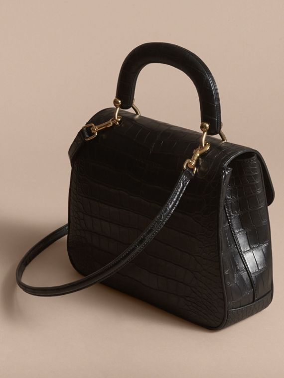The Medium DK88 Top Handle Bag in Alligator in Black - Women | Burberry - cell image 2