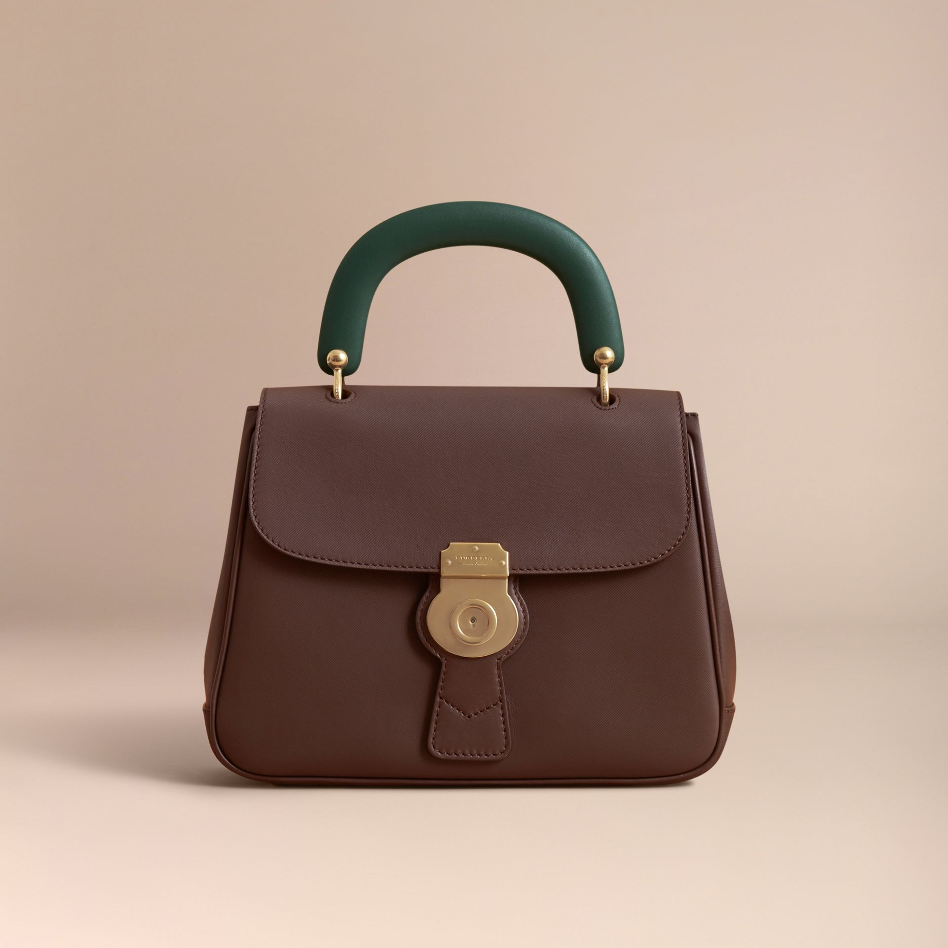 The Medium DK88 Top Handle Bag in Dark Chocolate - gallery image 8