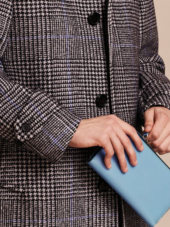 London Leather Ziparound Wallet Powder Blue - cell image 2
