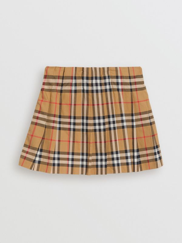 Gonna a pieghe con motivo Vintage check (Giallo Antico) | Burberry - cell image 3