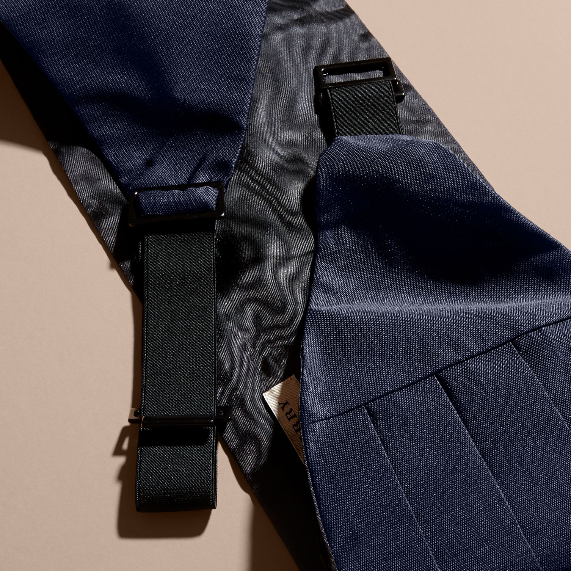 Pleated Silk Cummerbund in Midnight - Men | Burberry - gallery image 3