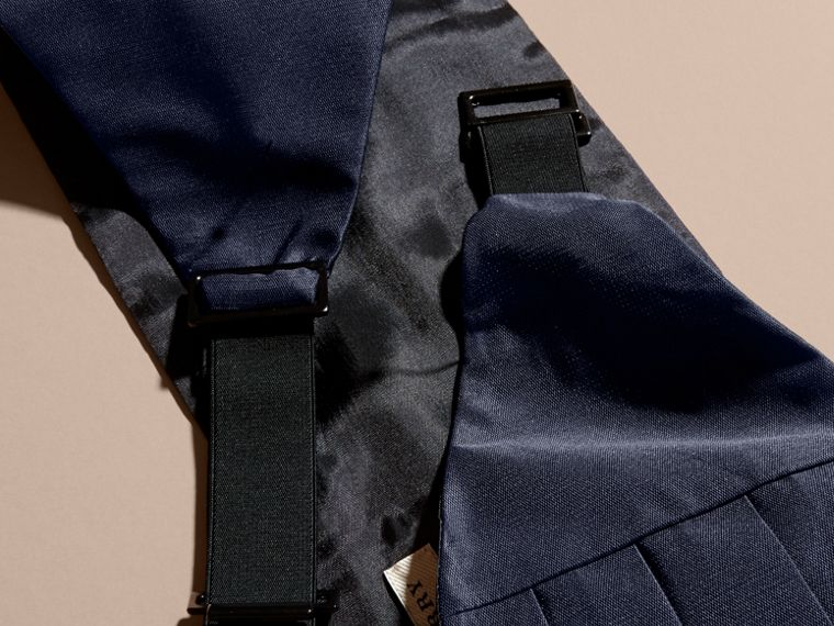 Pleated Silk Cummerbund in Midnight - Men | Burberry - cell image 2