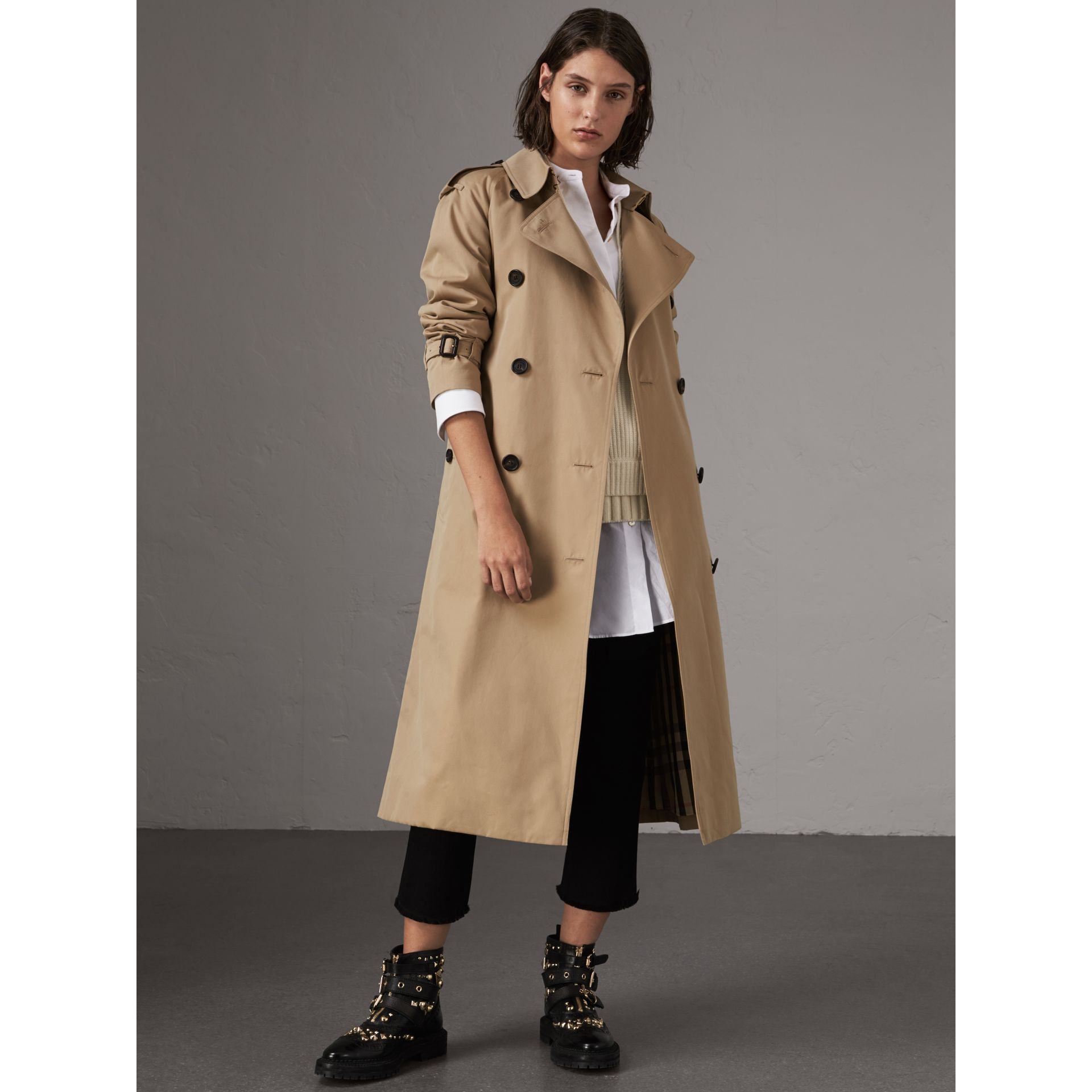 The Westminster – Extra-long Trench Coat in Honey - Women | Burberry - gallery image 7