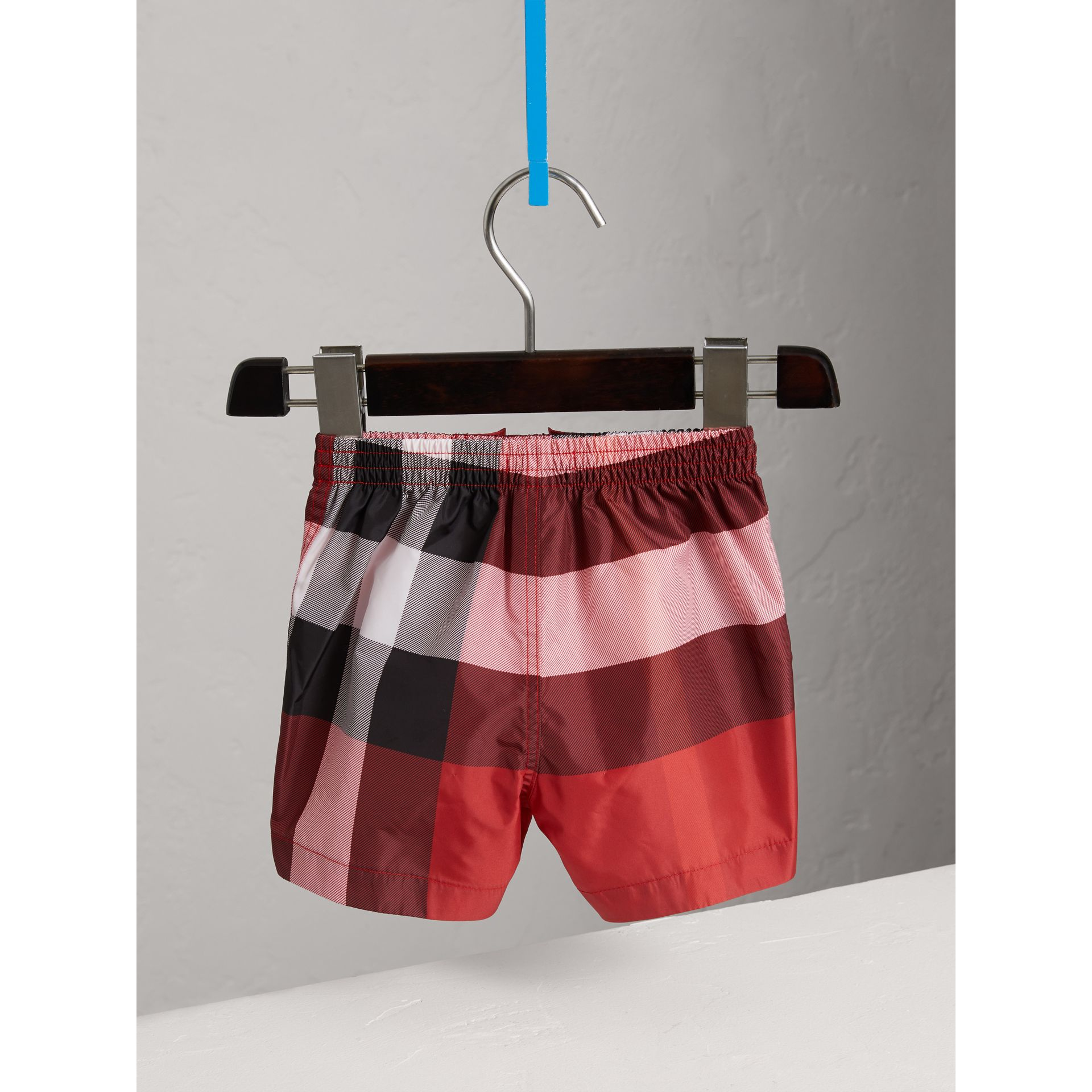Check Swim Shorts in Parade Red | Burberry United States - gallery image 3