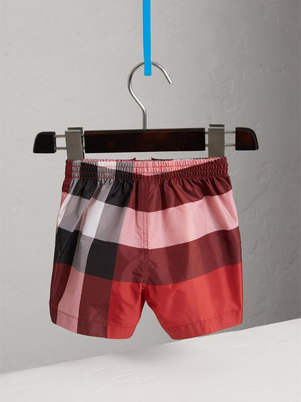 Check Swim Shorts in Parade Red | Burberry United Kingdom - cell image 3