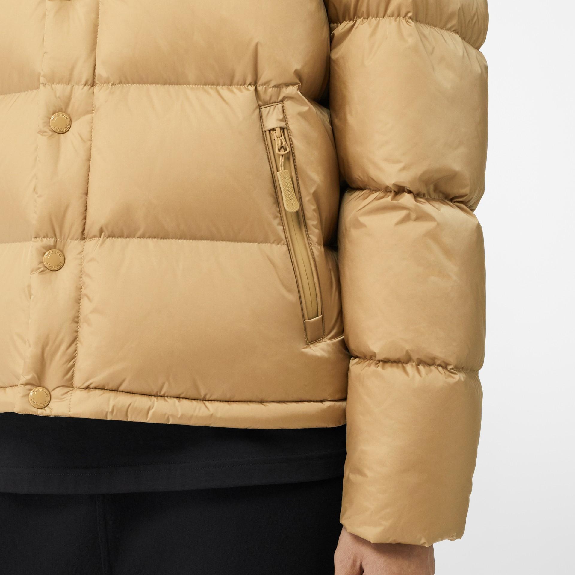 Detachable Sleeve Hooded Puffer Jacket in Honey - Men | Burberry - gallery image 5