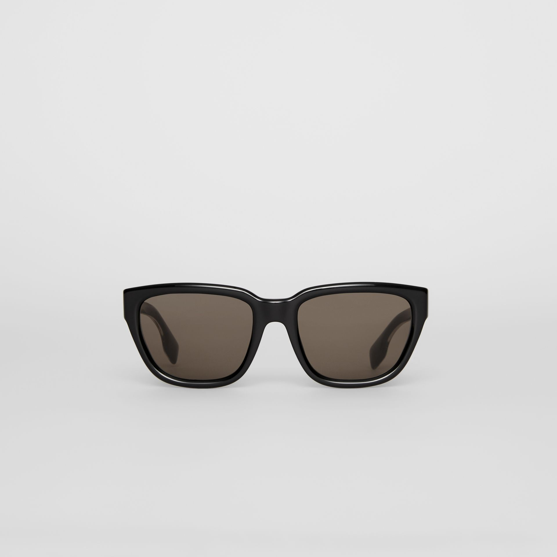 Square Frame Sunglasses in Black - Women | Burberry - gallery image 0