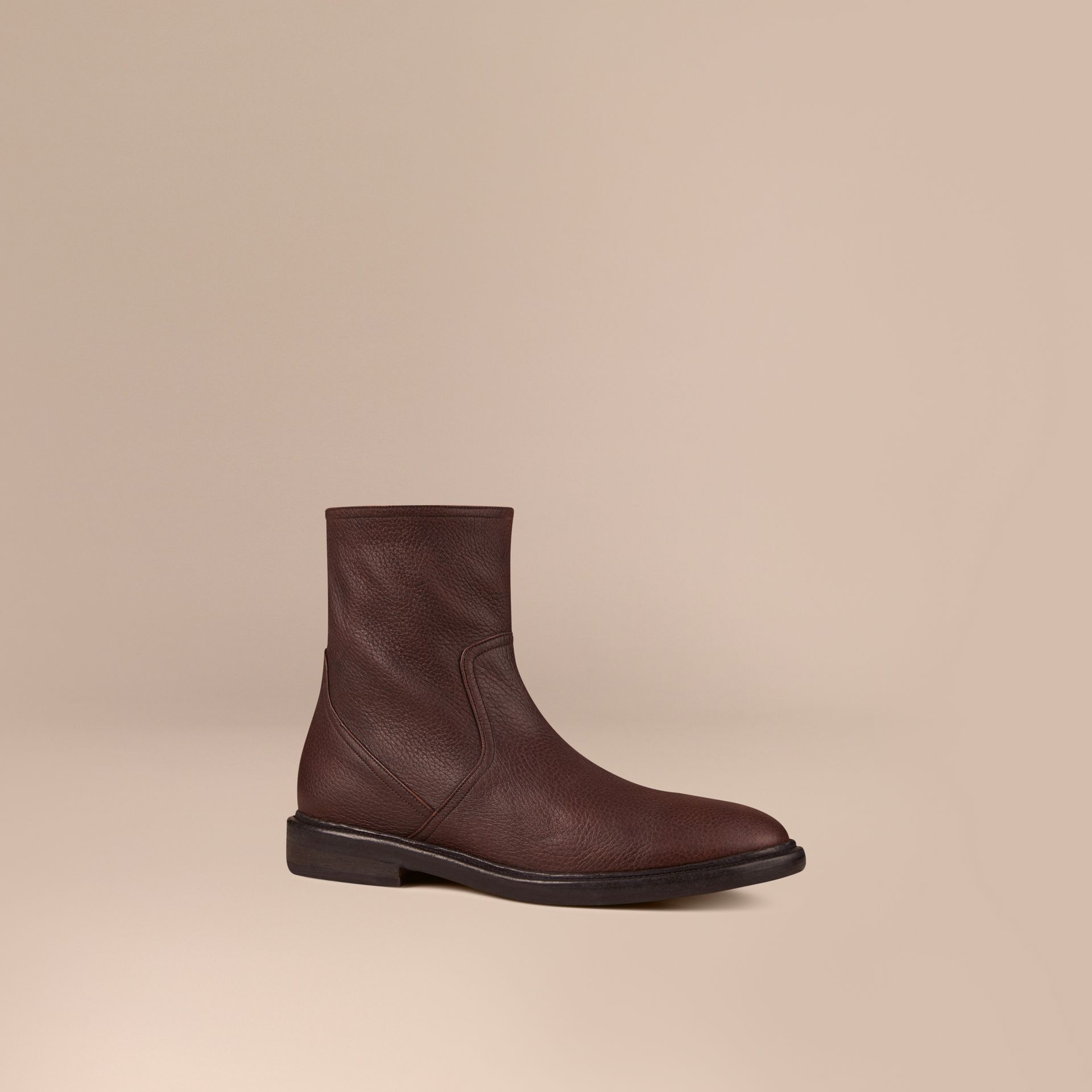 Bitter chocolate Deerskin Boots - gallery image 1
