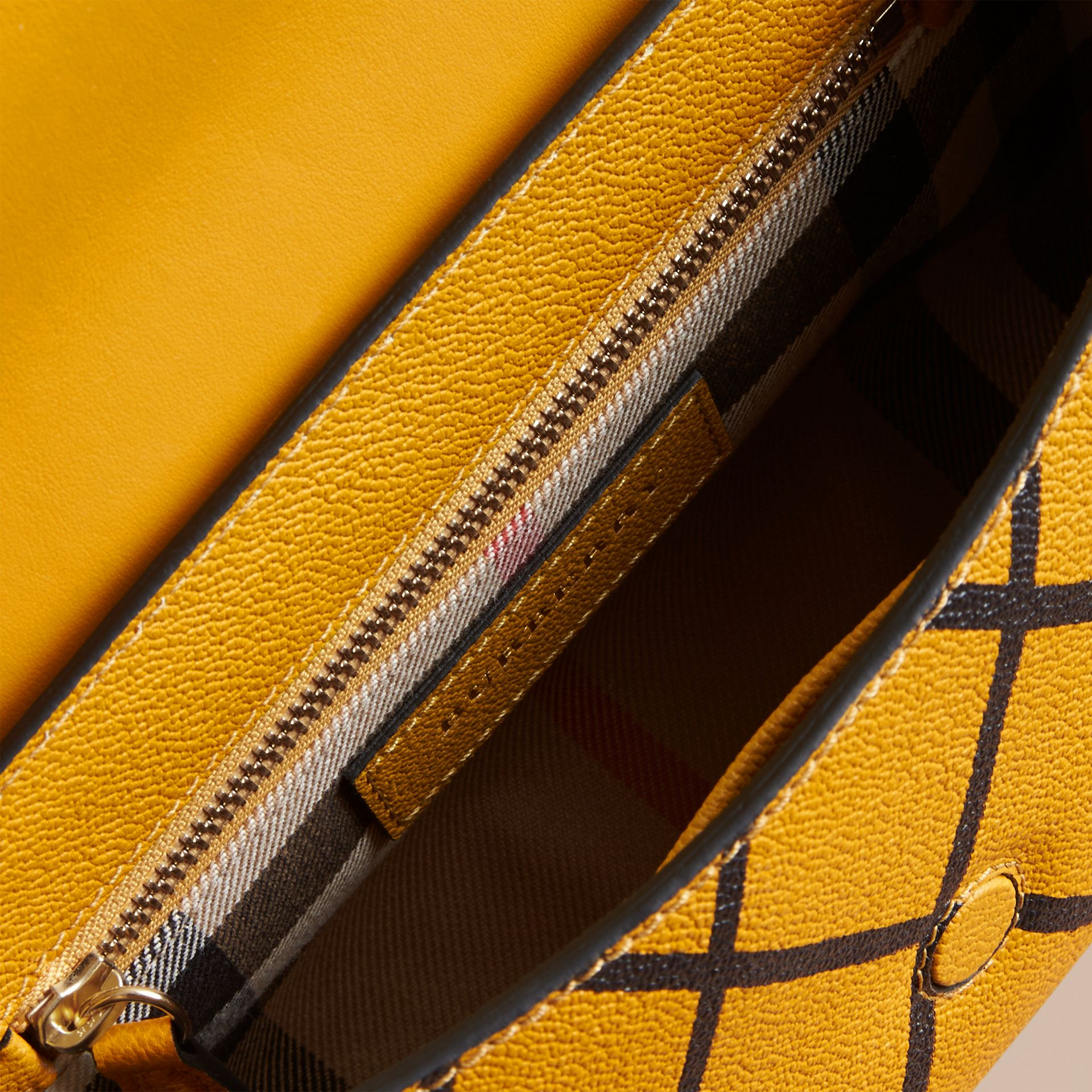 The Buckle Crossbody Bag in Trompe L'oeil Leather in Bright Straw - gallery image 5