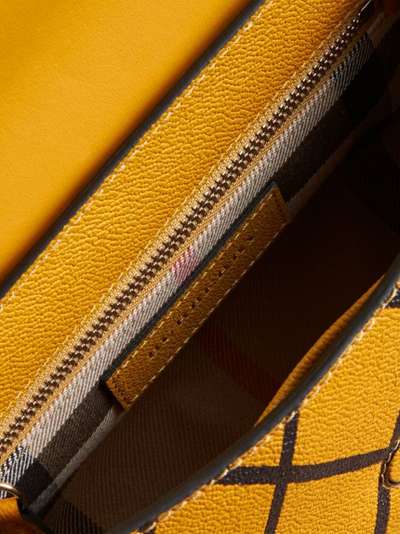 The Buckle Crossbody Bag in Trompe L'oeil Leather Bright Straw - cell image 3