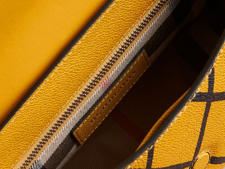 The Buckle Crossbody Bag in Trompe L'oeil Leather in Bright Straw - cell image 4