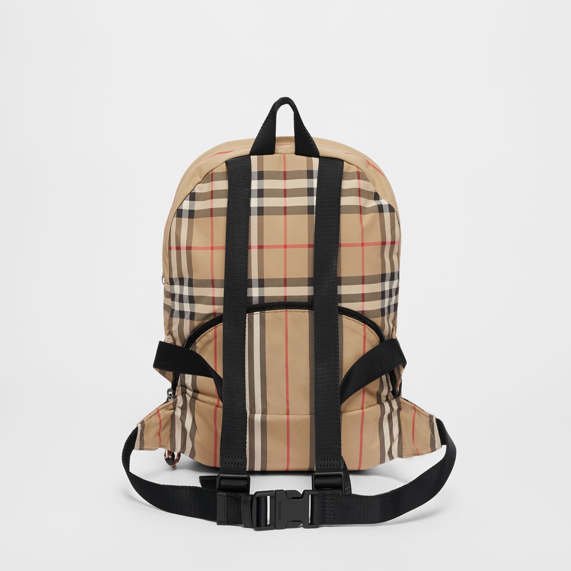 Vintage Check and Icon Stripe Convertible Bum Bag in Archive Beige - Children | Burberry United States - gallery image 5
