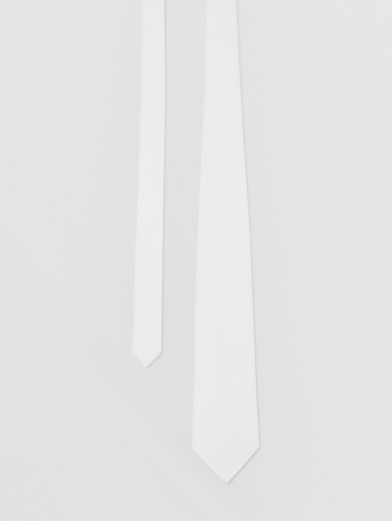 Classic Cut Cotton Tie in Optic White