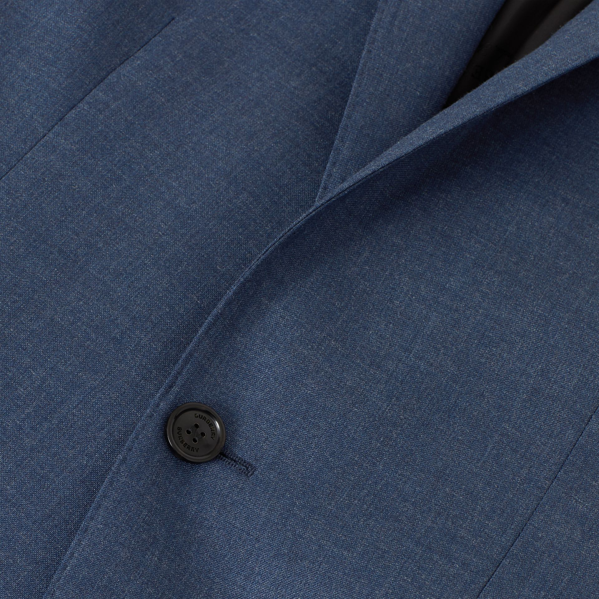 Classic Fit Wool Tailored Jacket in Steel Blue Melange - Men | Burberry - gallery image 6