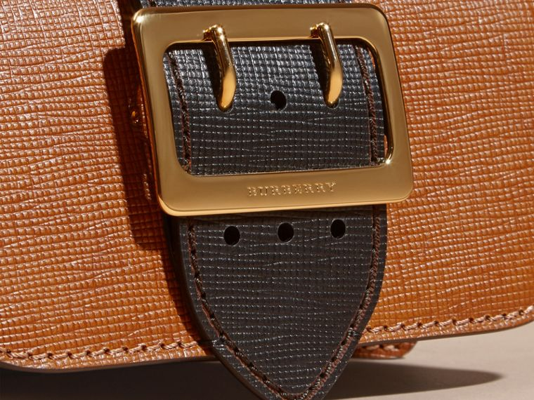 Tan / black The Small Buckle Bag in Grainy Leather - cell image 1