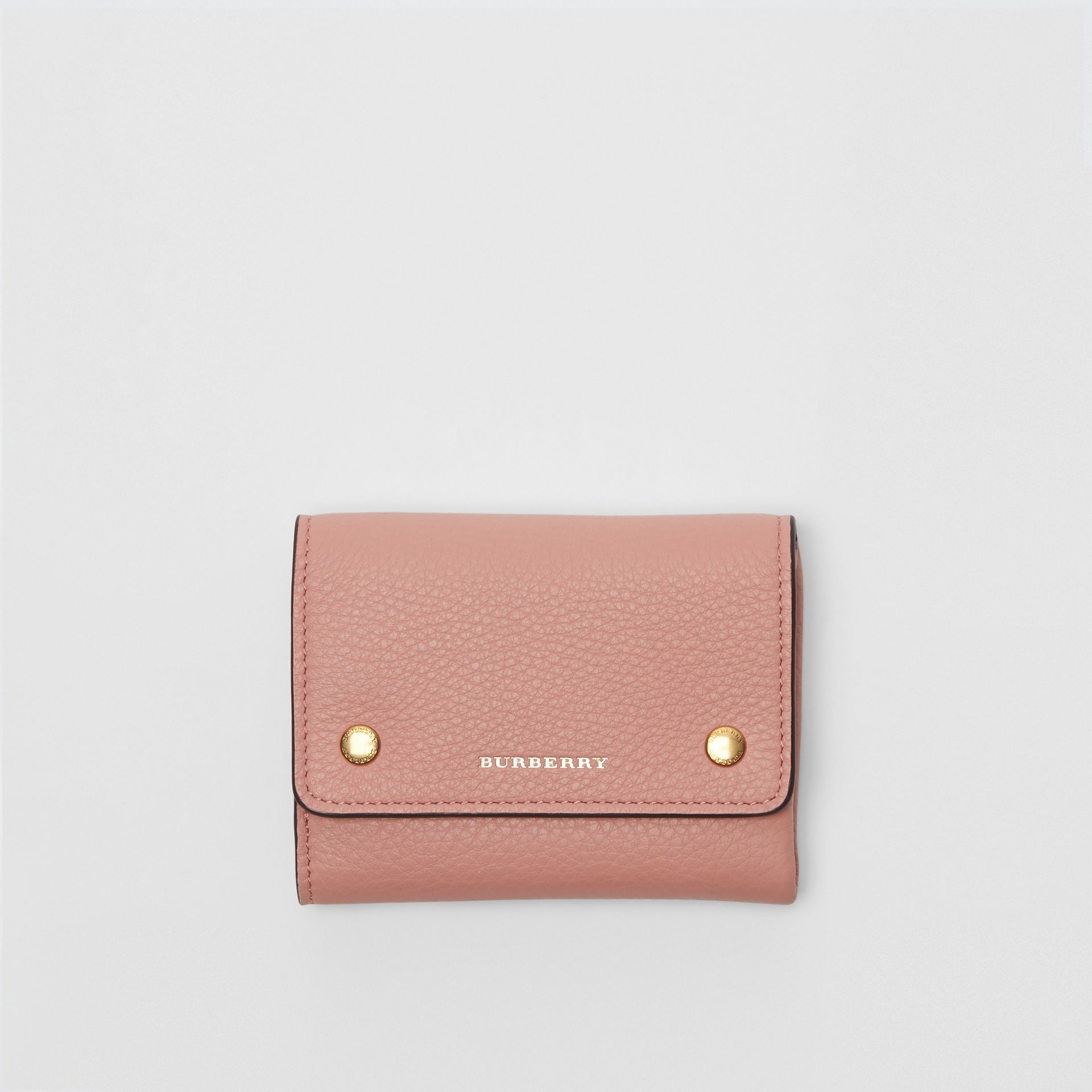 Small Leather Folding Wallet in Ash Rose - Women | Burberry Australia - gallery image 1