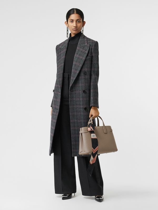 The Medium Banner aus Leder und Vintage Check-Gewebe (Taupebraun) - Damen | Burberry - cell image 2