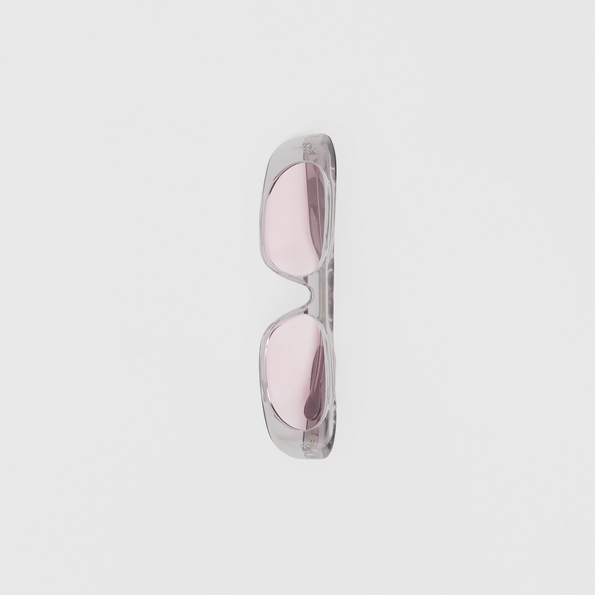 Blake Sunglasses in Transparent Grey | Burberry United States - gallery image 1