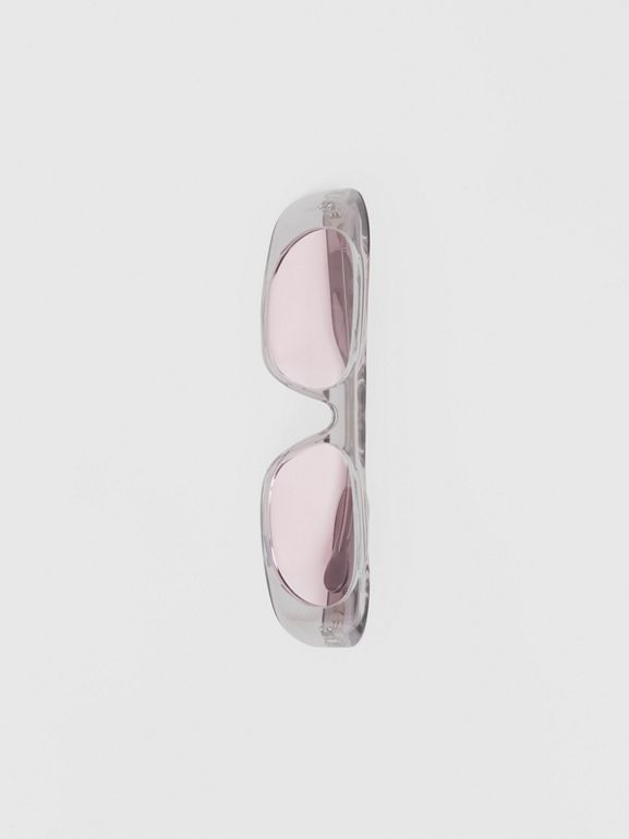Blake Sunglasses in Transparent Grey | Burberry United States - cell image 1