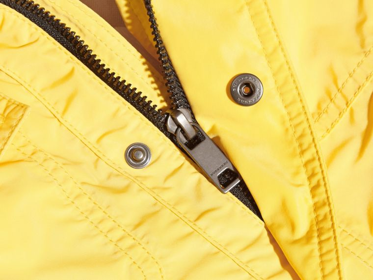 Hooded Packaway Technical Jacket Bright Yellow - cell image 1
