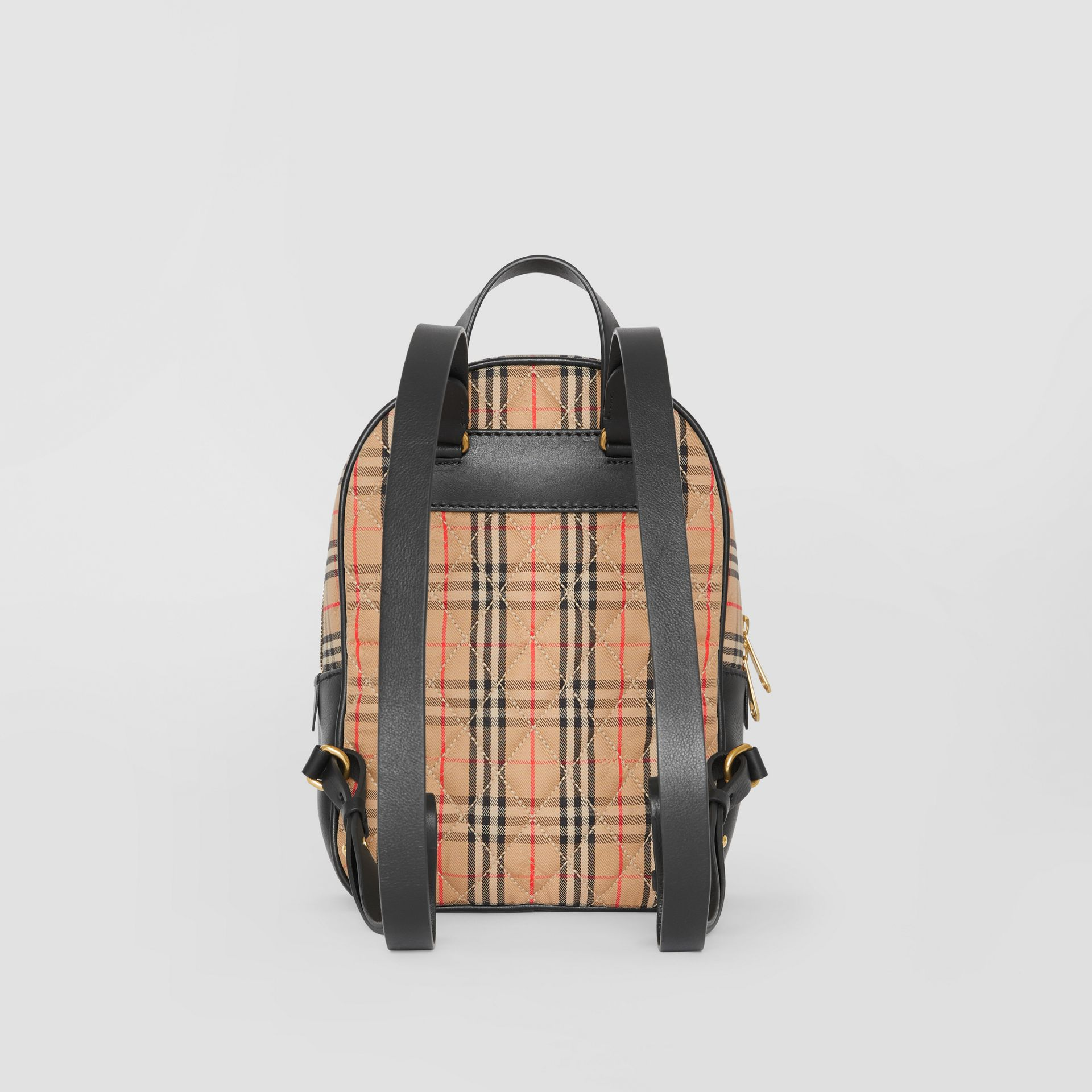 The 1983 Check Link Backpack in Black - Women | Burberry - gallery image 7