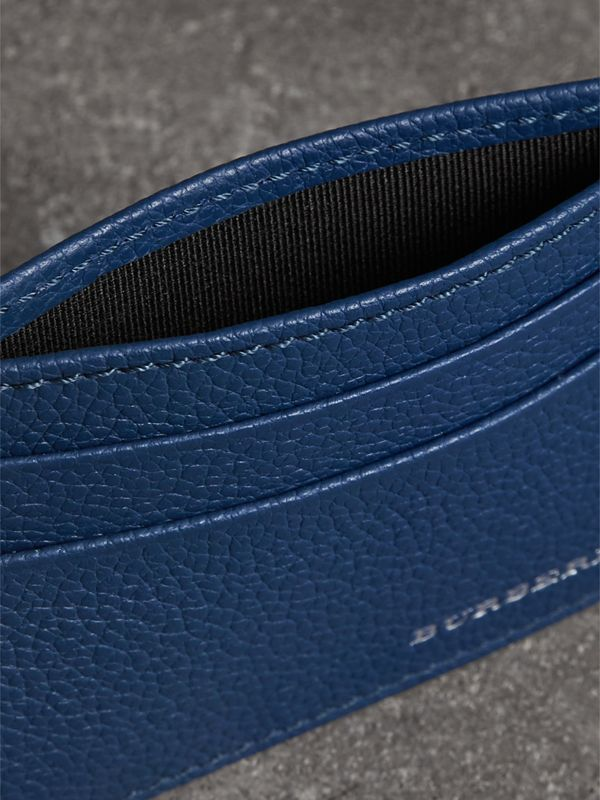 Grainy Leather Card Case in Bright Ultramarine | Burberry - cell image 3