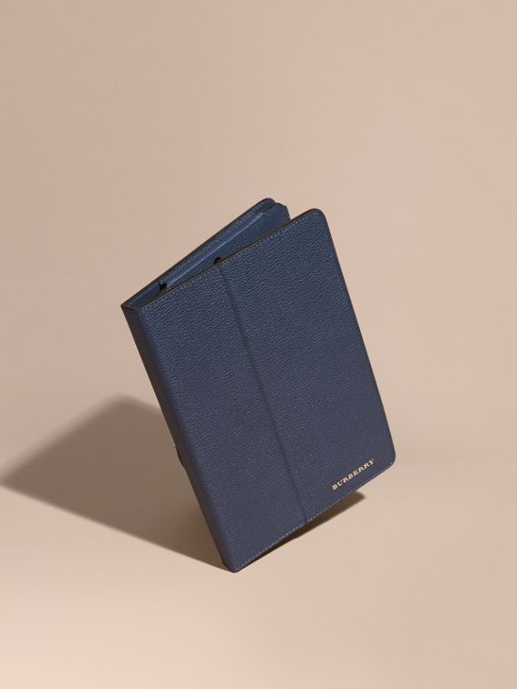 Grainy Leather iPad Case Bright Navy