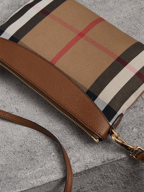 Clutch en coton House check et cuir (Hâle) - Femme | Burberry - cell image 3