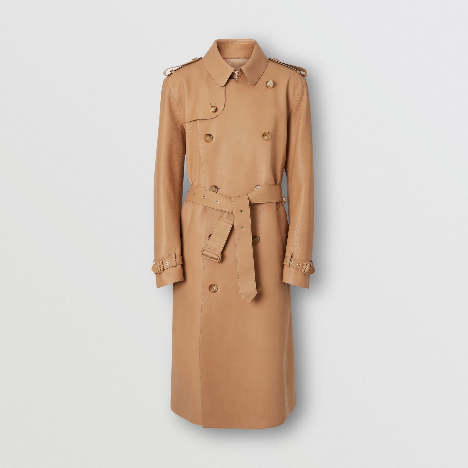 Plonge Leather Trench Coat in Camel - Men | Burberry - gallery image 3