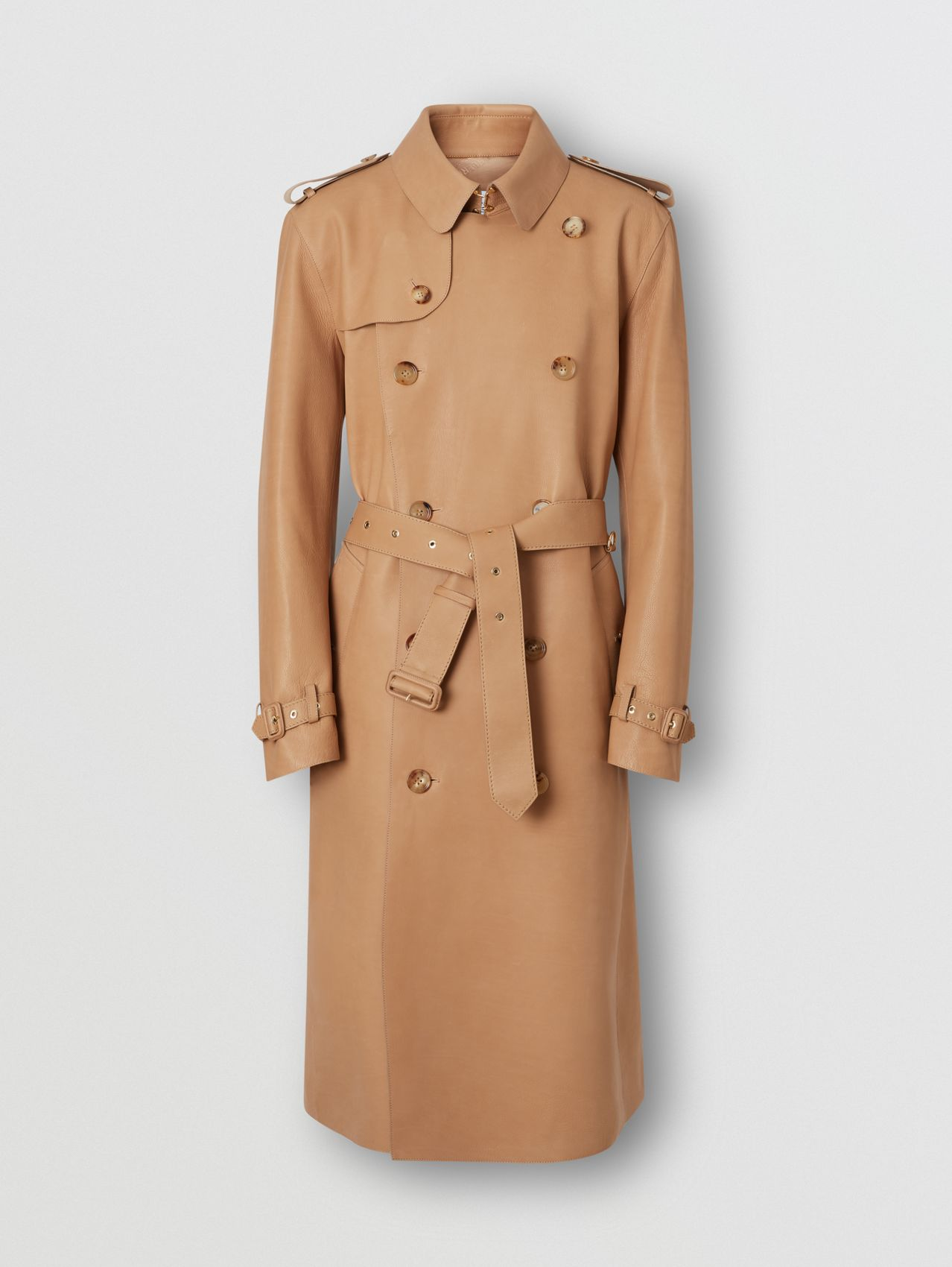 Plonge Leather Trench Coat (Camel)