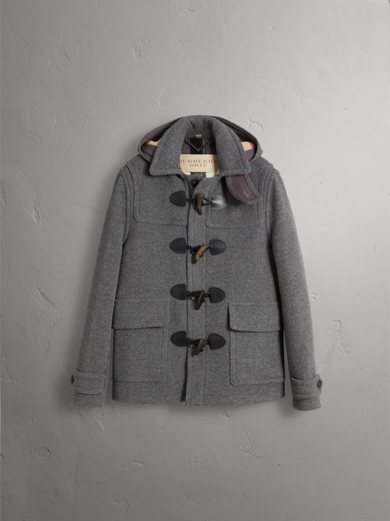 Wool Detachable Hood Duffle Jacket - Men | Burberry Australia - cell image 3