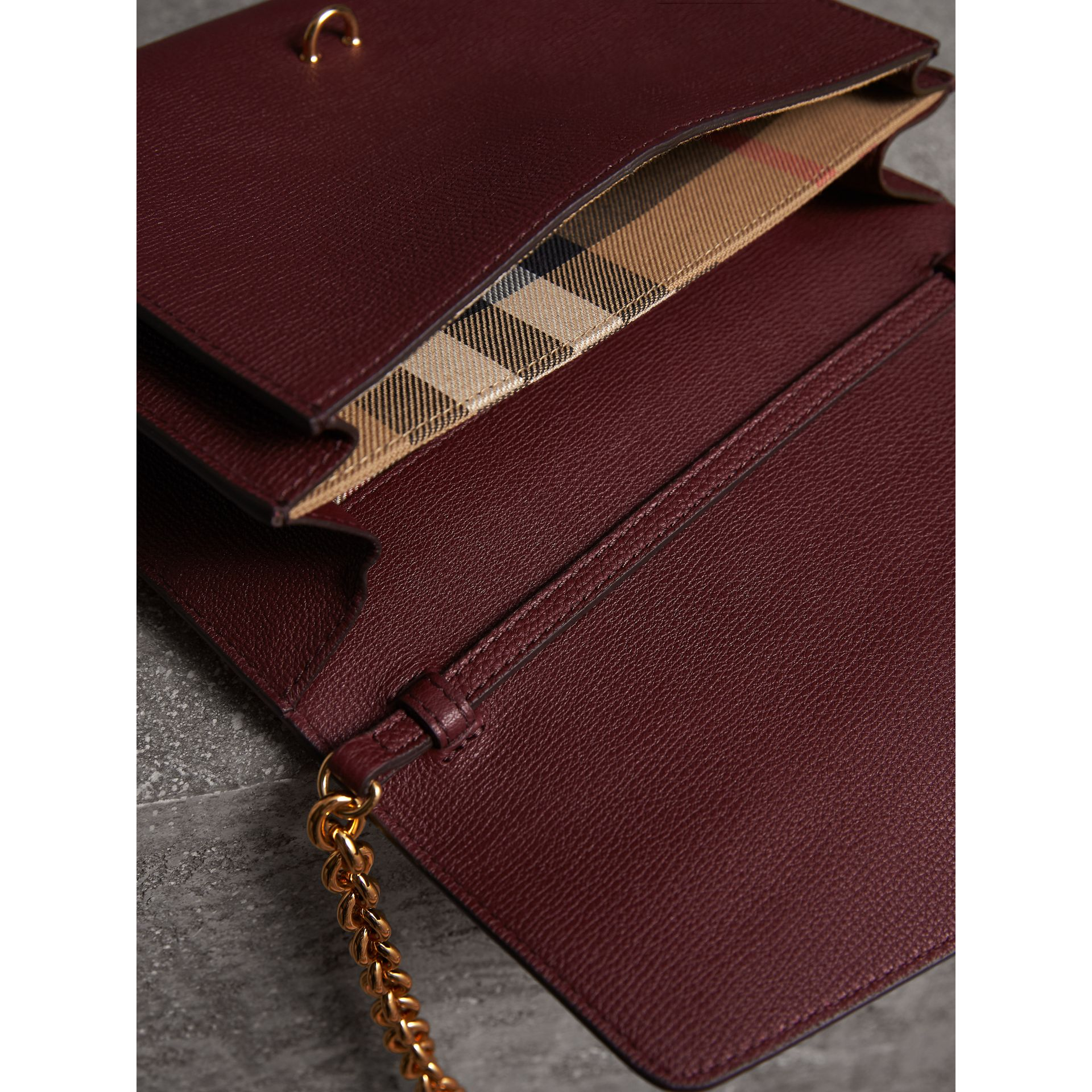 Small Leather Crossbody Bag in Mahogany Red - Women | Burberry - gallery image 5