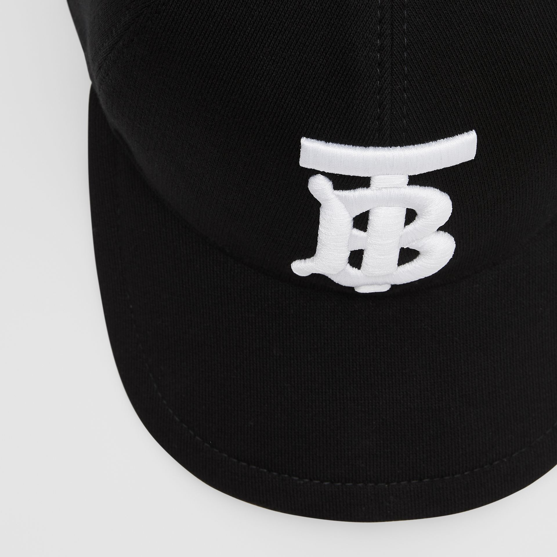 Monogram Motif Baseball Cap in Black | Burberry - gallery image 8