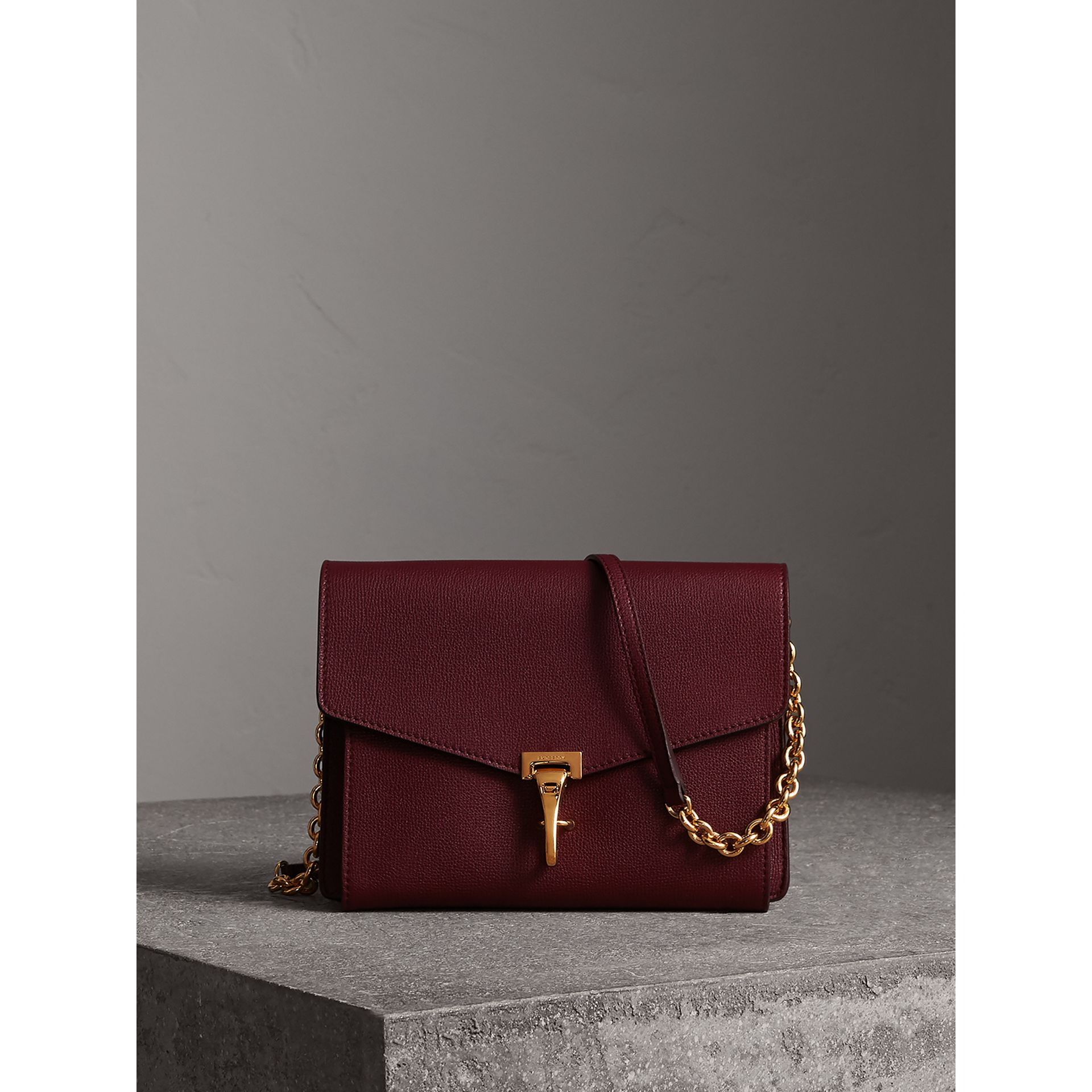 Small Leather Crossbody Bag in Mahogany Red - Women | Burberry - gallery image 1