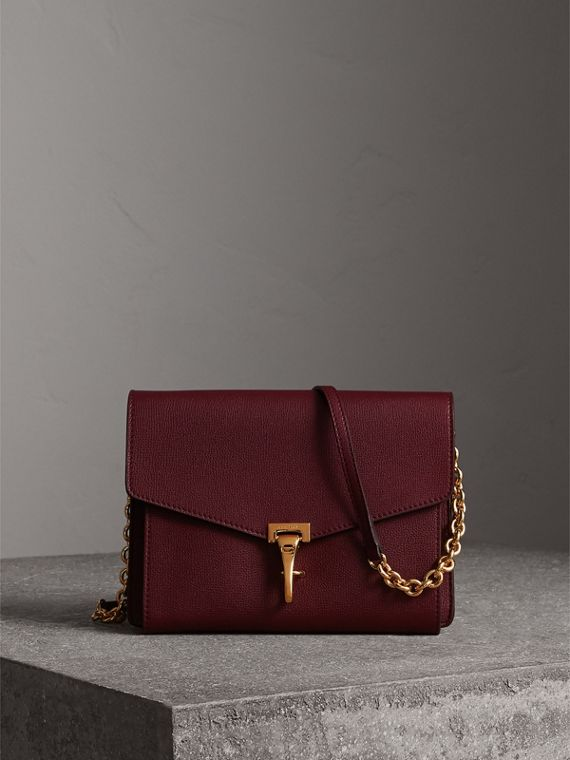 Small Leather Crossbody Bag in Mahogany Red - Women | Burberry