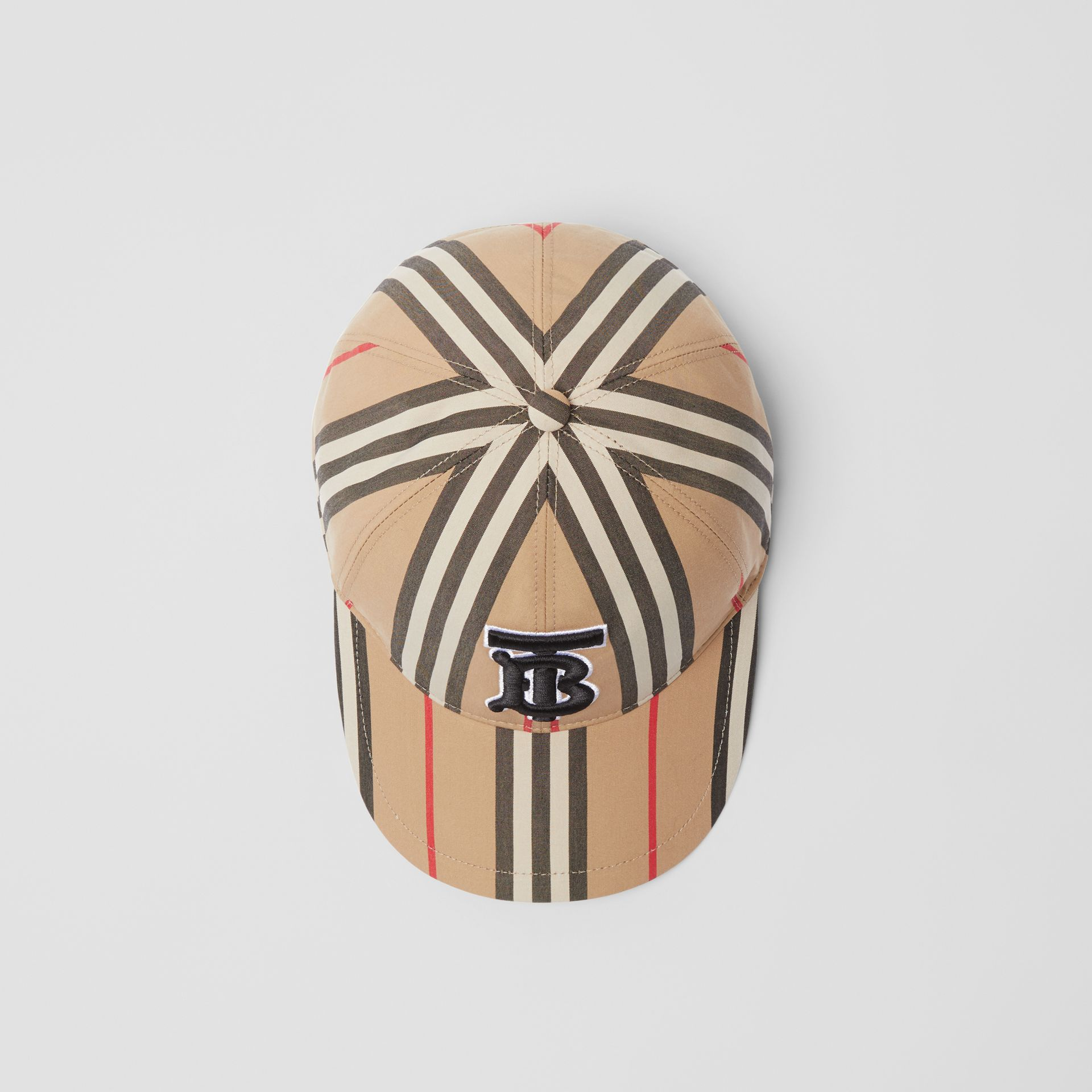 Icon Stripe Baseball Cap in Archive Beige | Burberry Canada - gallery image 0