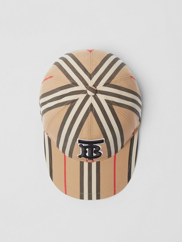 Gorra de béisbol a rayas (Beige Vintage)