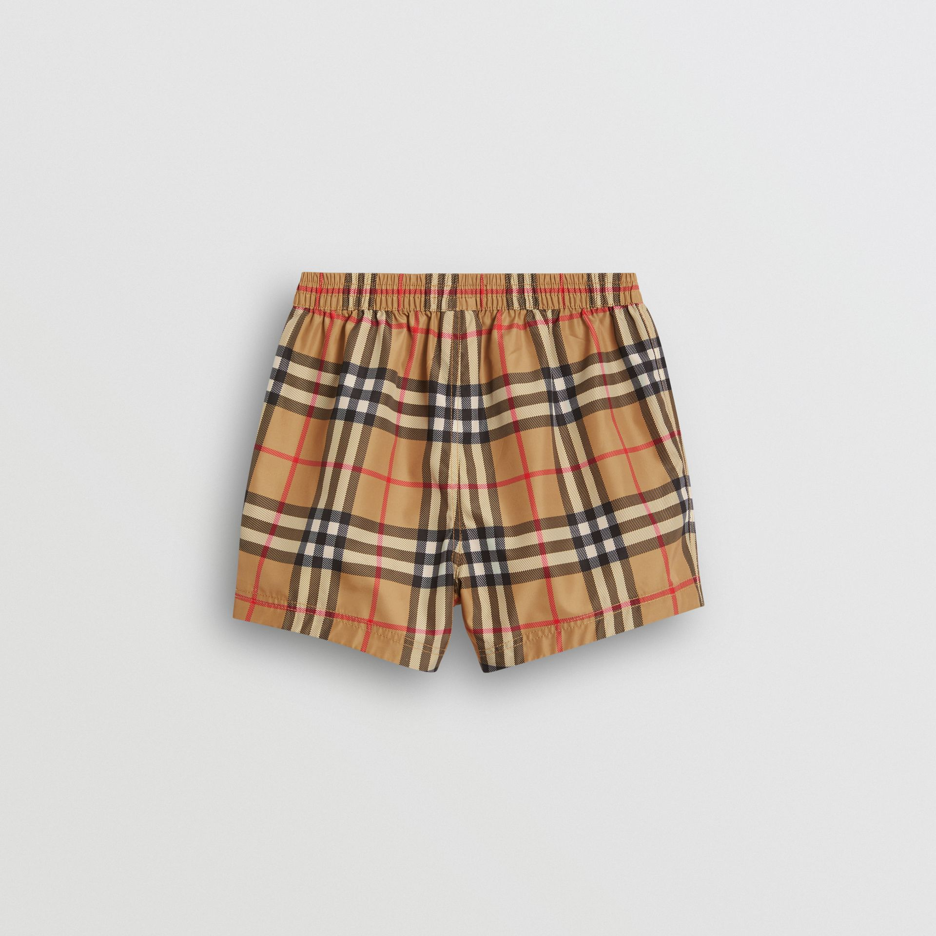 Check Swim Shorts in Antique Yellow - Children | Burberry Canada - gallery image 3