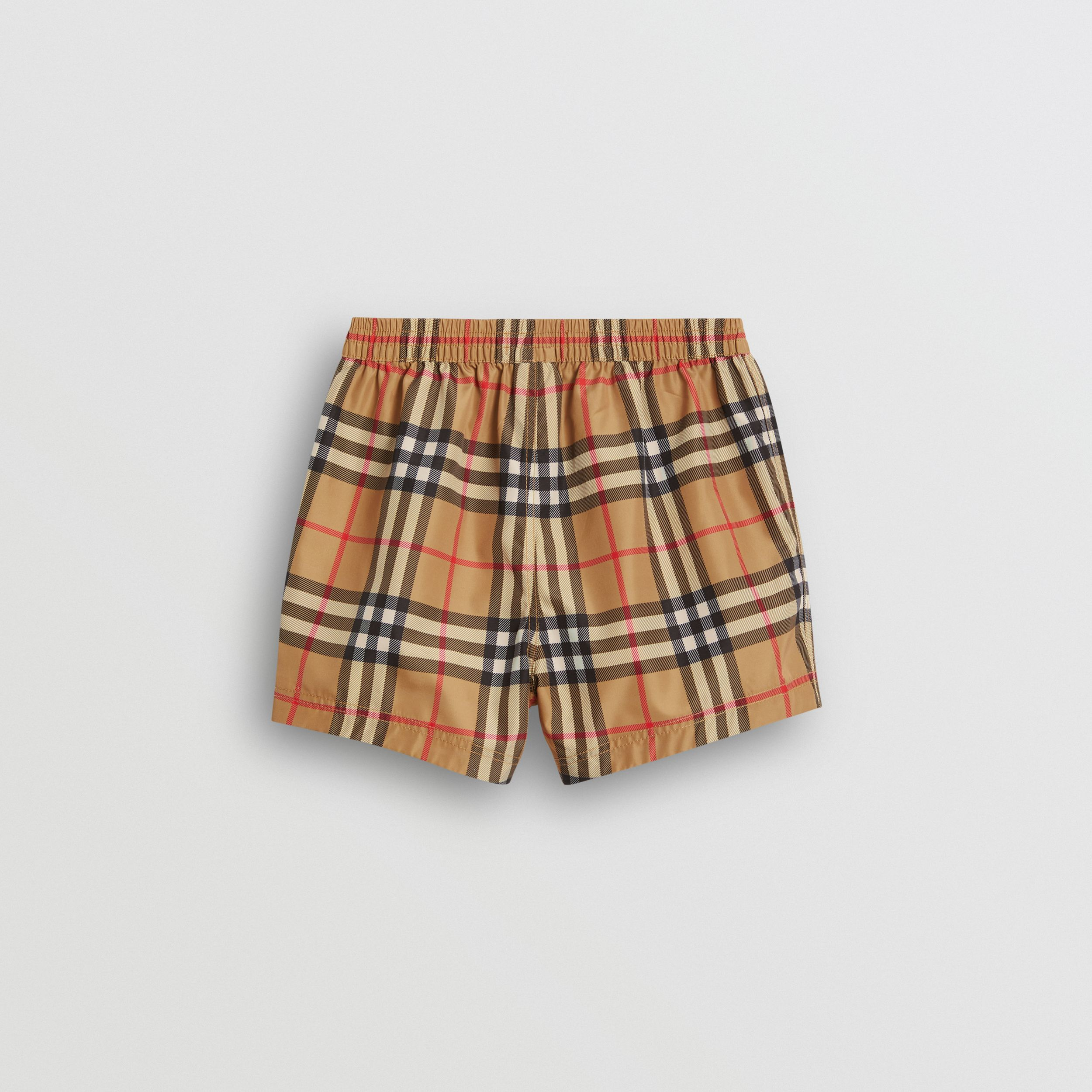 Check Swim Shorts in Antique Yellow - Children | Burberry - 4