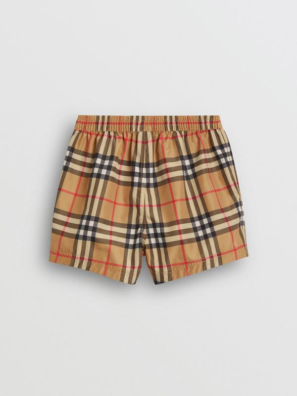 Check Swim Shorts in Antique Yellow - Children | Burberry Canada - cell image 3