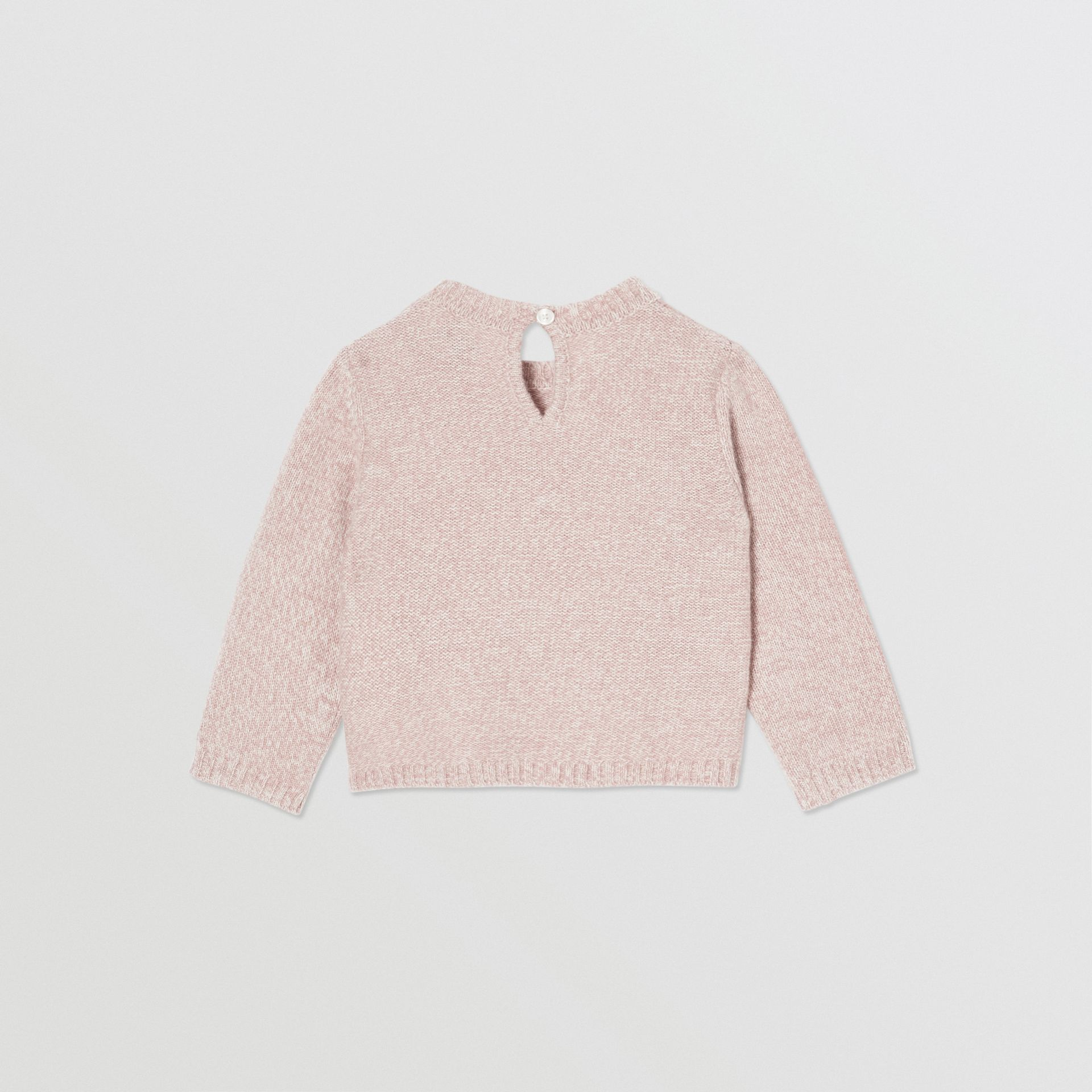 Thomas Bear Detail Wool Cashmere Sweater in Light Pink - Children | Burberry - gallery image 2