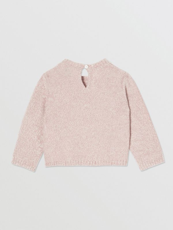 Thomas Bear Detail Wool Cashmere Sweater in Light Pink - Children | Burberry - cell image 2