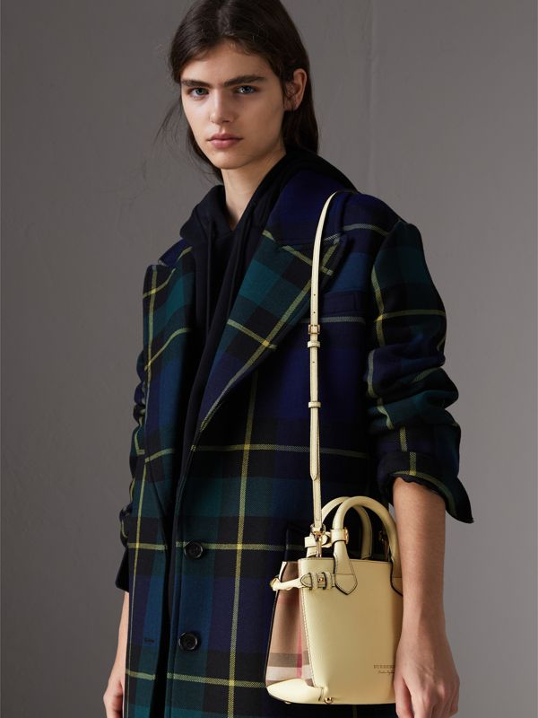 Borsa The Baby Banner in pelle con motivo House check (Giallo Camomilla) - Donna | Burberry - cell image 3