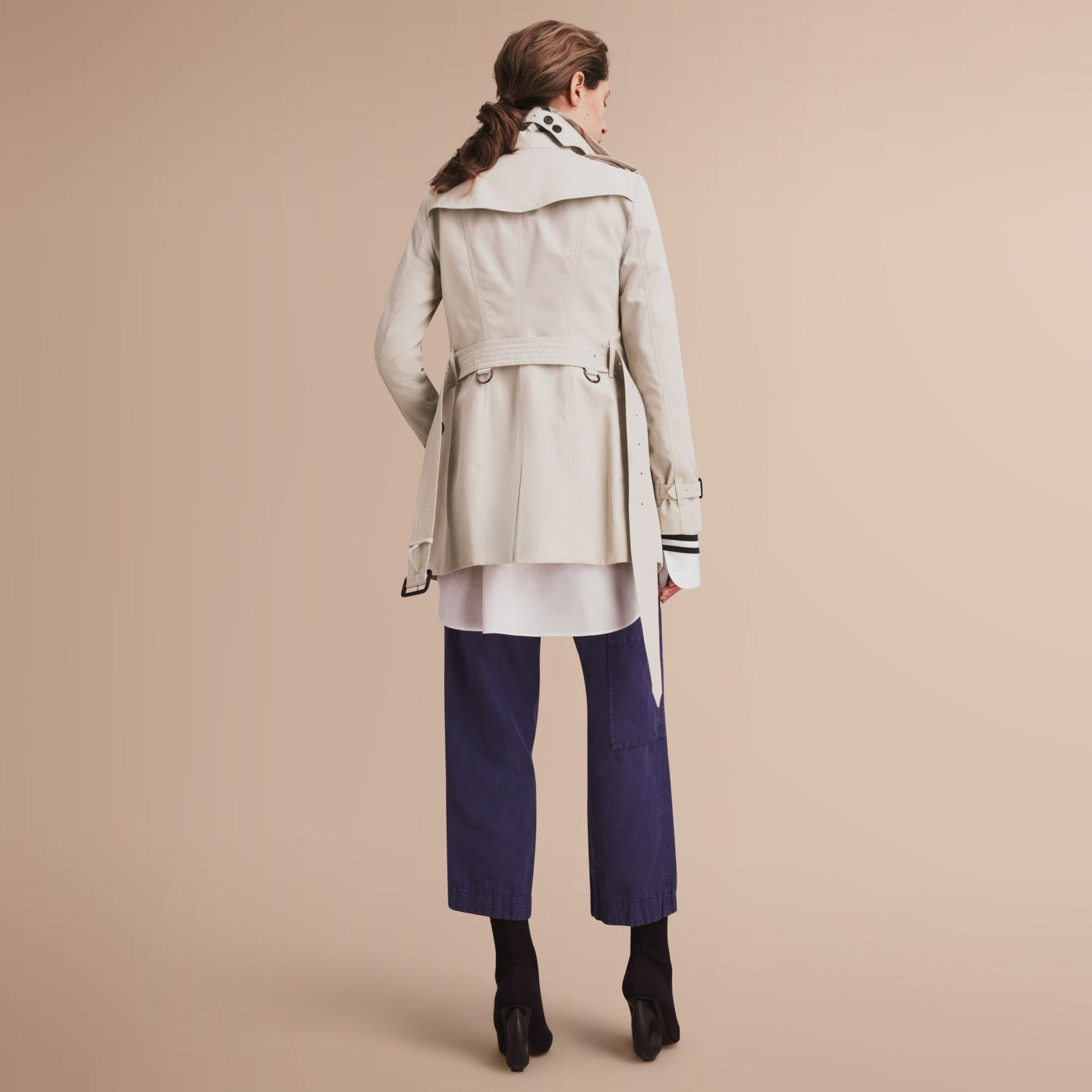 The Sandringham – Short Heritage Trench Coat in Stone - gallery image 3