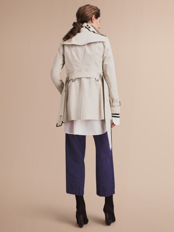 The Sandringham – Short Heritage Trench Coat in Stone - cell image 2