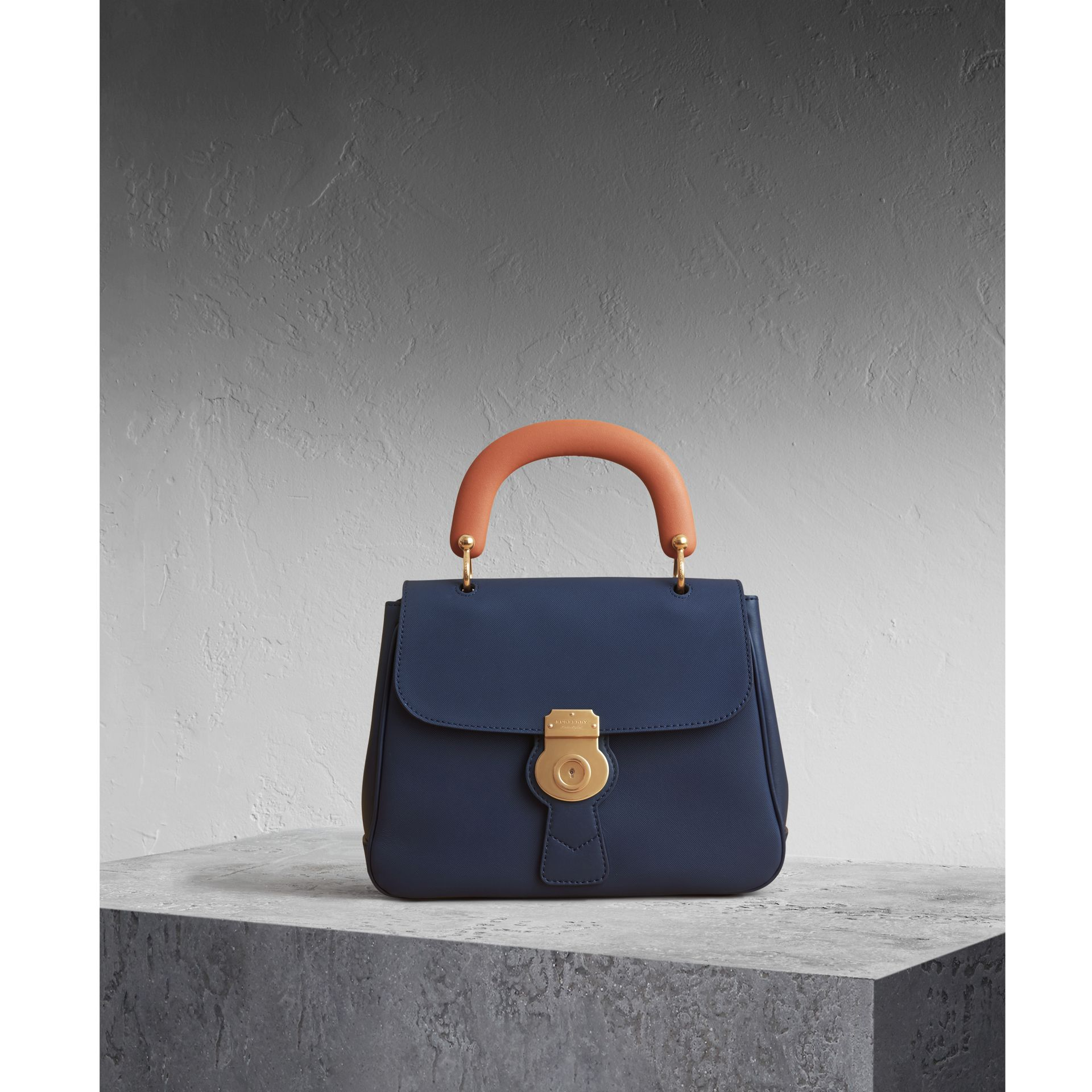 The Medium DK88 Top Handle Bag Ink Blue - gallery image 1