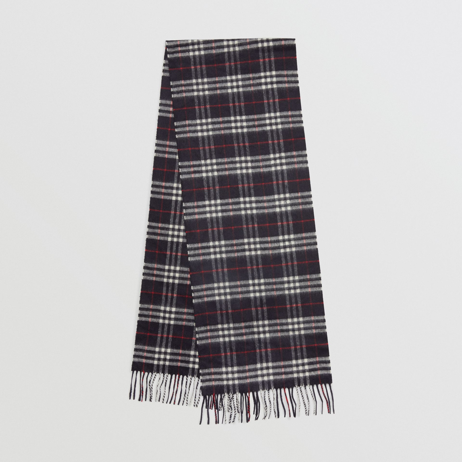 The Classic Vintage Check Cashmere Scarf in Navy | Burberry Singapore - gallery image 0